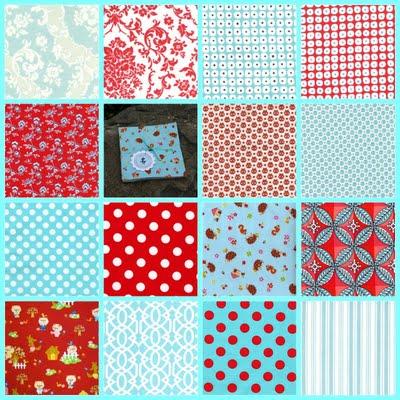 red aqua charm pack