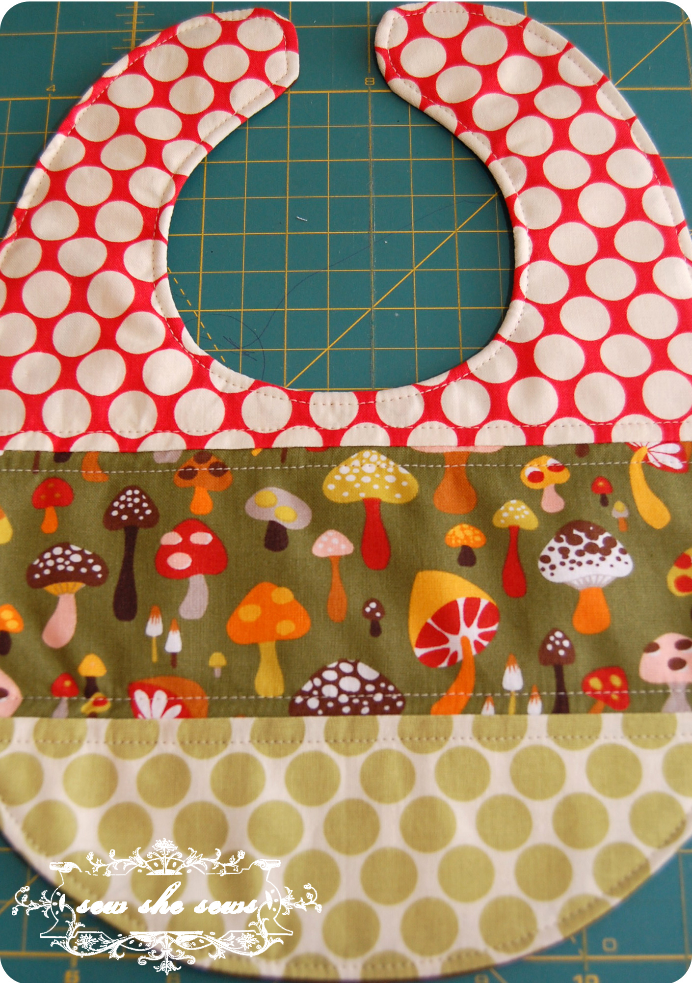 patchwork and quilted bib tutorial