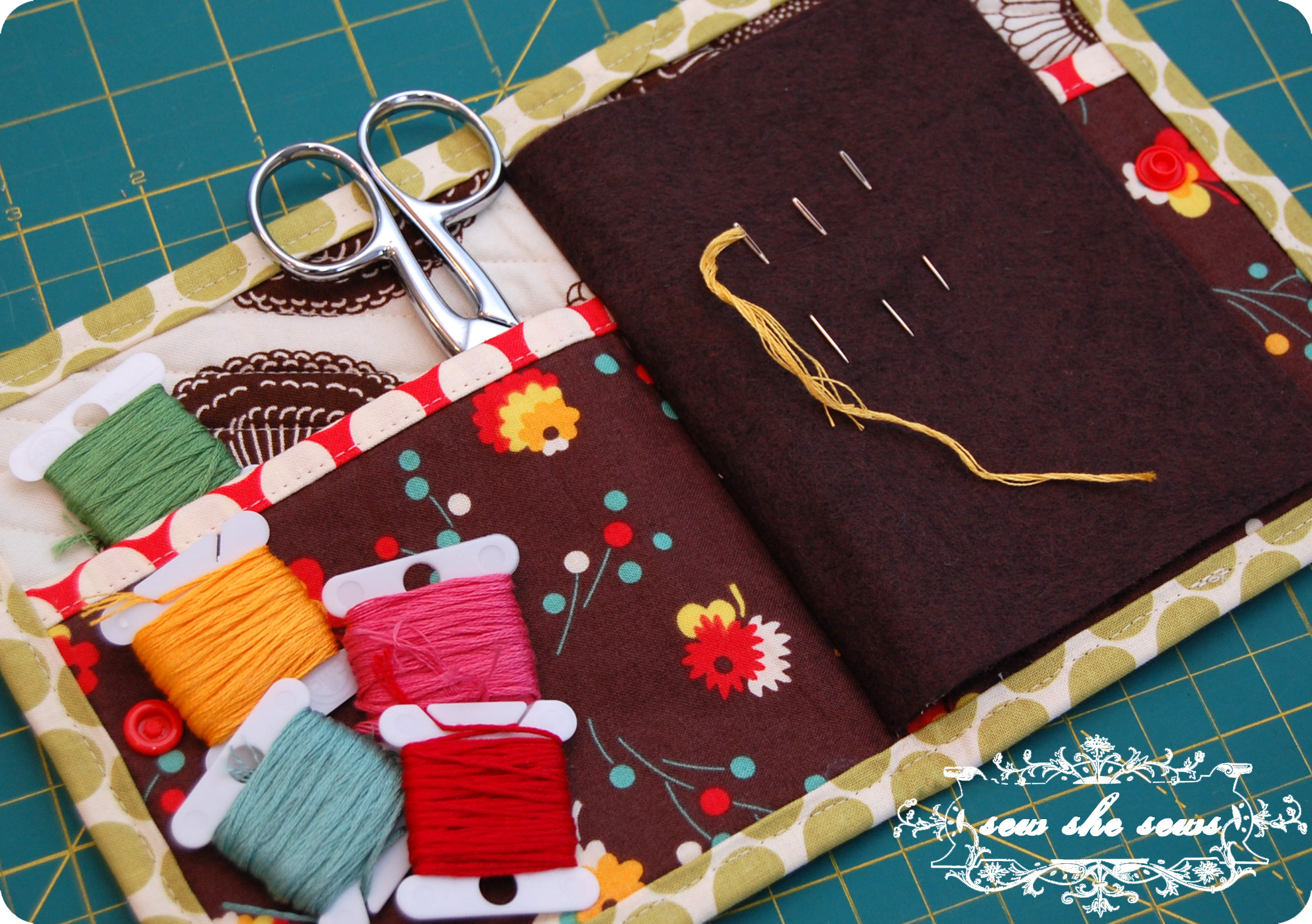 Quilted Needle Case Tutorial Sew She Sewss